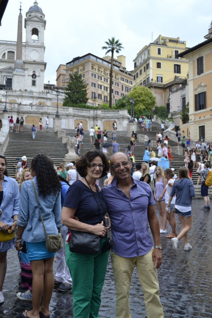 Maria and Fred Valentini at Rome's Spanish steps.