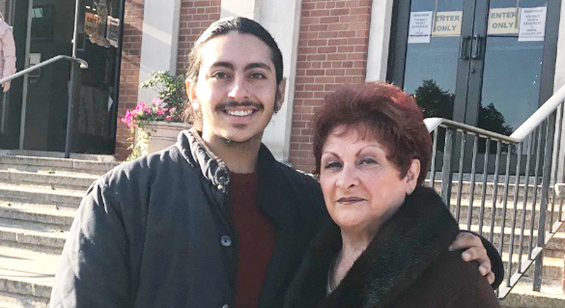 Antonio Ricco and his grandmother Phyllis Ricco